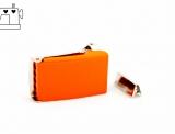 Gürtelschnalle 25mm inkl. Endstück - orange