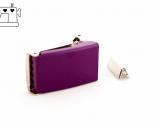 Gürtelschnalle 25mm inkl. Endstück - violett