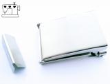 Gürtelschnalle 40mm inkl. Endstück - silber