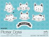 "Plotter-Datei ""miauu"" (Katzen)"