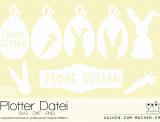 """Plotter-Datei Karte """"Oster-Hase"""""""
