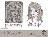 """Plotter-Datei """"comic girlie"""" No3"""