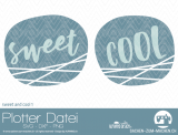 "Plotter-Datei ""sweet&cool"" #1"