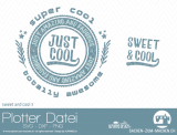 "Plotter-Datei ""sweet&cool"" #3"
