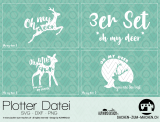 "Plotter-Datei ""oh my deer"" (3er-Set)"