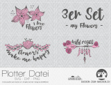 "Plotter-Datei ""my flowers"" (3er-Set)"