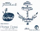 """Plotter-Datei """"Anker-Heimat #3"""""""