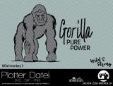 """Plotter-Datei """"wild monkey #3"""""""