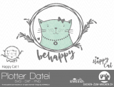 "Plotter-Datei ""Happy Cat"" #1"