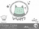 "Plotter-Datei ""Happy Cat"" #2"
