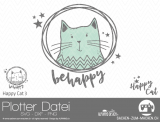 "Plotter-Datei ""Happy Cat"" #3"