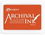 Stempelkissen Archival  5x8cm (wasserfest) - sienna