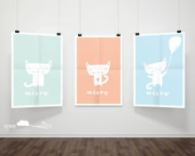 "3er Set Postkarten ""Katzen"""