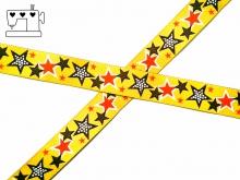 "Webband ZNOK ""Sterne gelb"" 20mm"